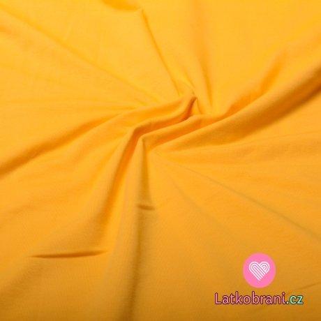 Jednobarevný úplet žlutý 220 g