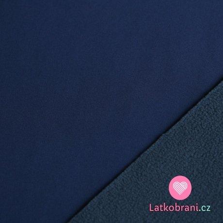 Softshell tmavě modrý do švestkové s fleecem