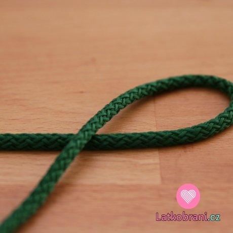 Šňůra kulatá oděvní PES 4 mm zelená tmavá