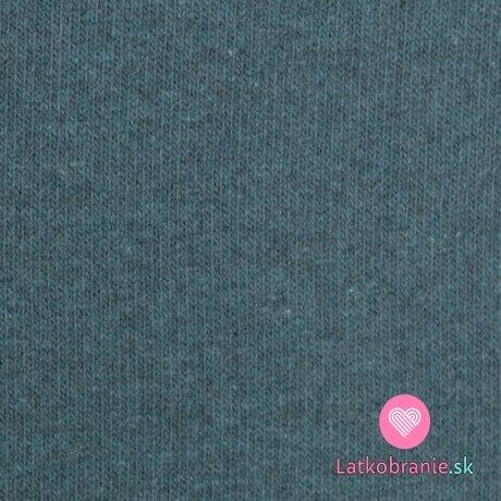 Italská pletenina, počesaná modrá