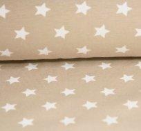 Úplet hvězdy bílé na béžovém podkladu (stejné)