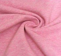 Teplákovina barevná příze růžová melé 2. ZBYTEK JAKOST- ZBYTEK