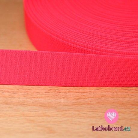 Pruženka barevná neon růžová 25mm