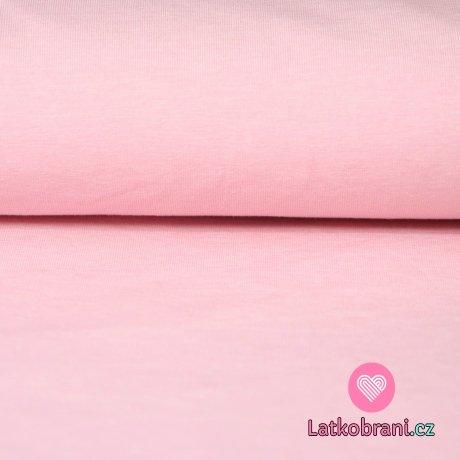 Jednobarevný úplet růžový jemný 215g
