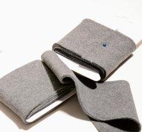 Náplet kusový středně šedé melé 135 cm