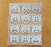 Reflexní nažehlovačka medvědí hlavička (12ks)