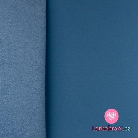 Softshell modrý s fleecem
