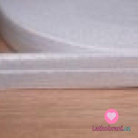 Šikmý proužek / lemovací pruženka bílá 25 mm