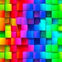 Teplákovina potisk barevné pixely