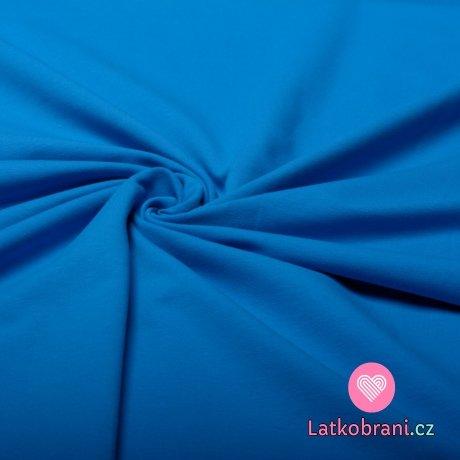 Jednobarevná teplákovina modrý oceán 240 g