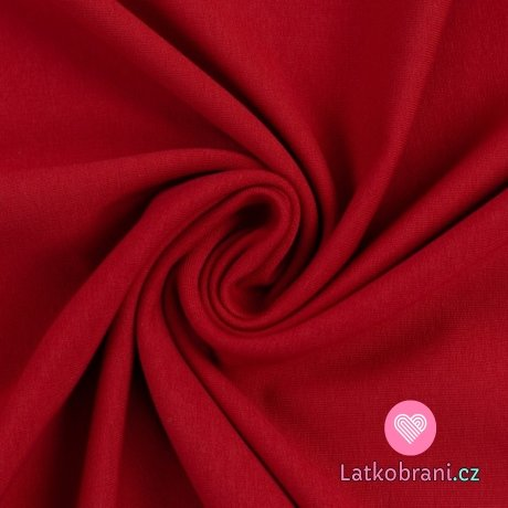 Teplákovina jednobarevná červená karmínová