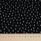 Úplet potisk bílé čárky na černé, BIO