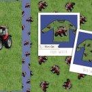 Úplet panel červený traktor na trávě