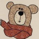 Teplákovina potisk medvídek Méďa na smetanové