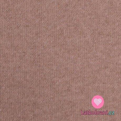 Italská pletenina, počesaná růžová