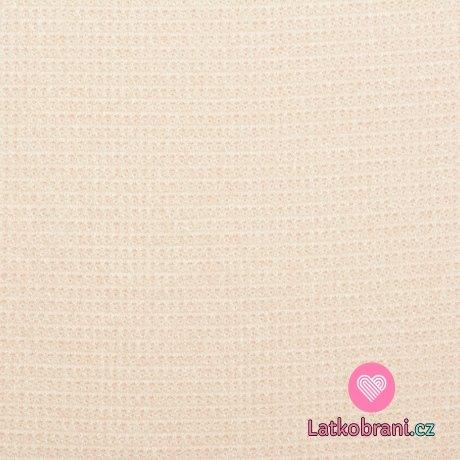 Svetrovina s vaflovým vzorem světle pudrově růžová