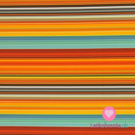 Softshell potisk barevné proužky s fleecem