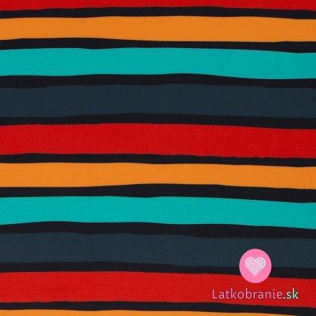 Softshell potisk nepravidelné barevné proužky s fleecem