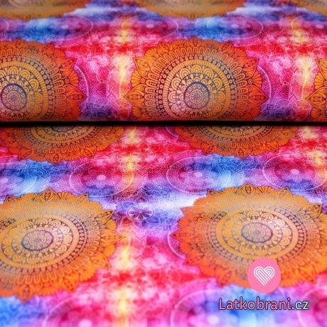 Úplet mandala oranžové proměnlivé fialové