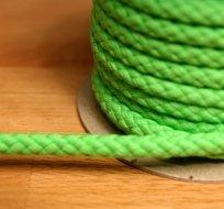 Šňůra kulatá oděvní BAVLNA 9 mm zelená jablko