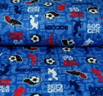 Bavlněný úplet fotbalista na královsky modré