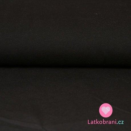 Jednobarevný úplet černý 210g