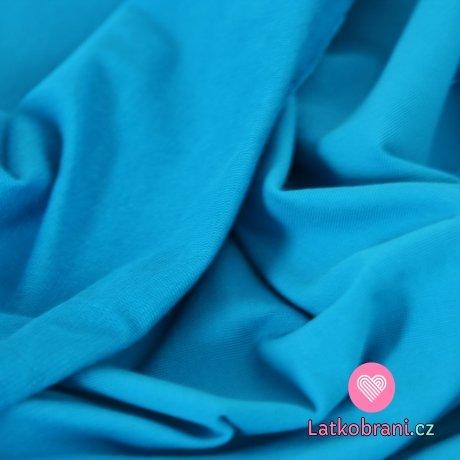 Jednobarevná teplákovina aqua 290gr