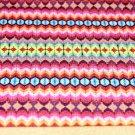 Úplet háčkovaný svetr barevné pruhy