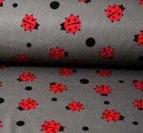 Softshell červené berušky na šedé