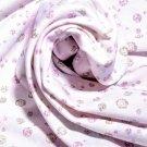Teplákovina potisk diamanty na růžovo - fialové noční obloze