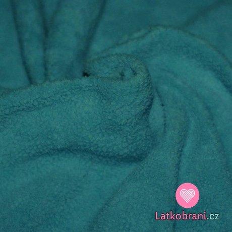 Bavlněný fleece petrolejový (sherpa)