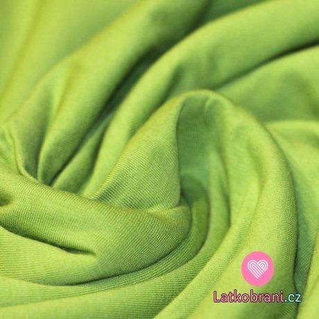Jednobarevný úplet limetkově zelený