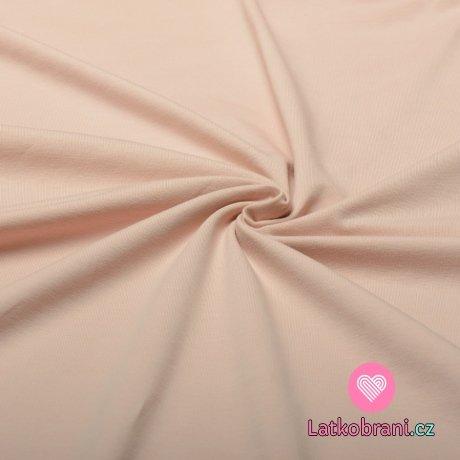 Jednobarevný úplet pudrově růžový 240 g