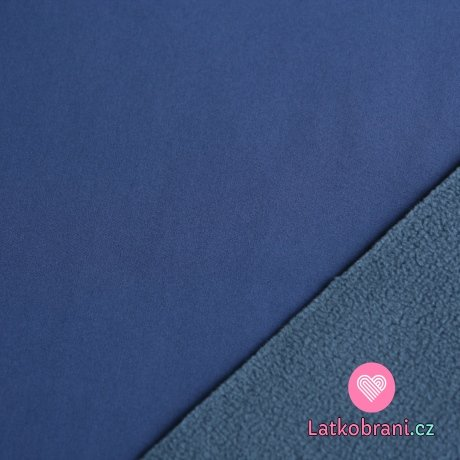 Softshell modrá do švestkové s fleecem (světlejší)