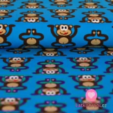 Úplet opičky hnědé na modré