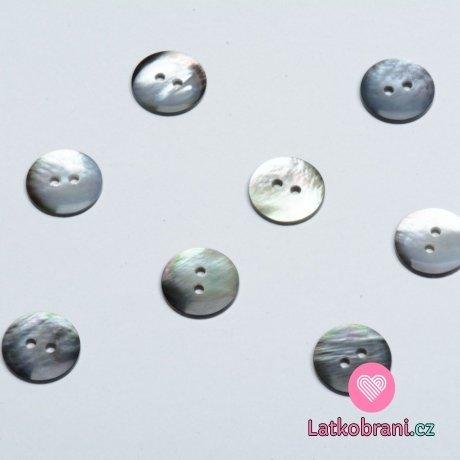 Knoflík kulatý, tahita perleťový 15mm