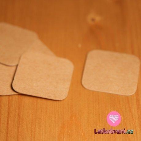 Štítek na oblečení čtverec s kulatými rohy 30x30 mm