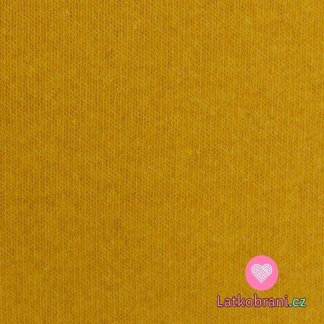 Italská pletenina, počesaná hořčicová