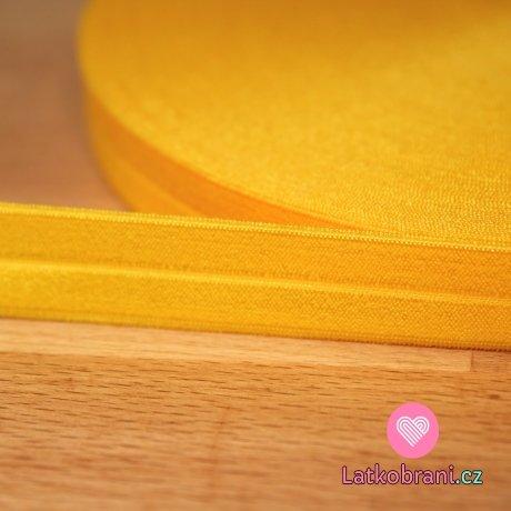 Šikmý proužek / lemovací pruženka žlutá sytá