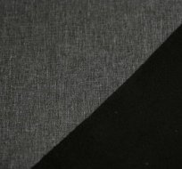 Softshell melé šedá s fleecem z rubu černý