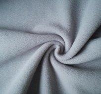 Jemný polar fleece šedý světlejší antipiling