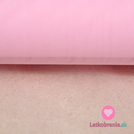 Jemný tyl růžový baby
