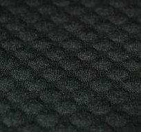 Pletenina plastické bublinky šedé melé tmavé antracit