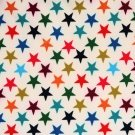 Soft s hvězdami na bílém podkladu s fleecem - ZBYTEK