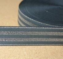 Pruženka proužky stříbrné s šedou 40mm