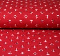 Úplet drobné kotvičky na červené