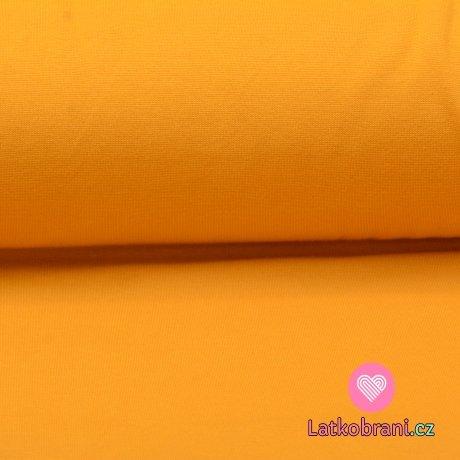 Náplet hladký hořčice 160cm