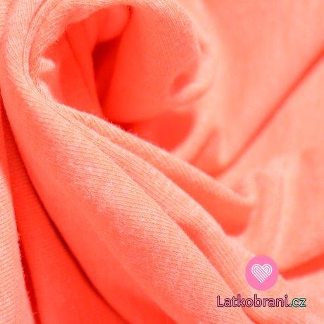 Úplet jednobarevný neon růžový melé