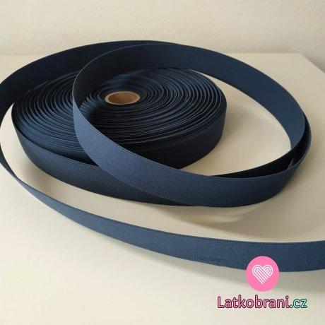 Pruženka barevná džínově modrá 25 mm