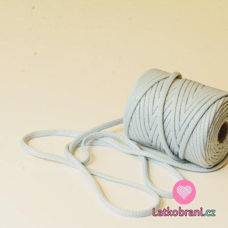 Šňůra kulatá oděvní PES 7 mm světlounce šedá